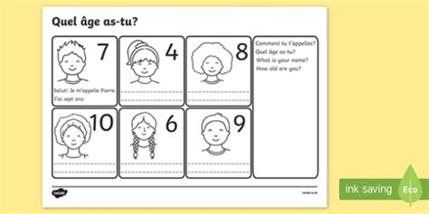 say your age worksheet worksheets activity