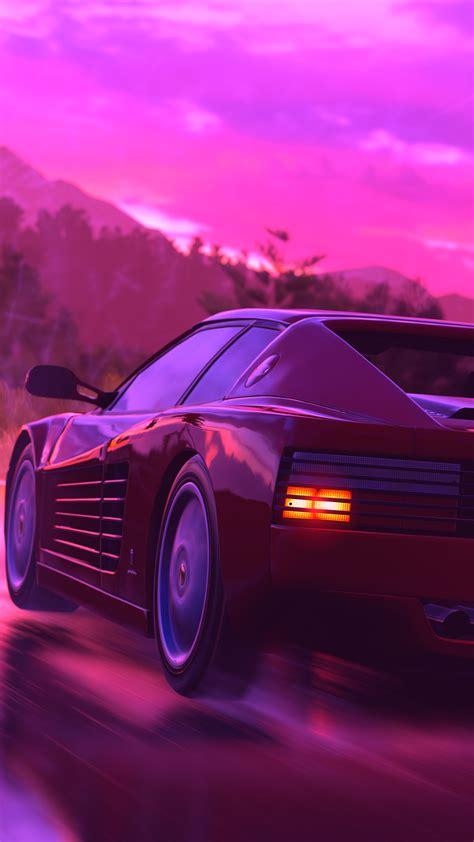 Download hd wallpapers for free on unsplash. 1080x1920 Ferrari Sports Car Retrowave Art 4k Iphone 7,6s,6 Plus, Pixel xl ,One Plus 3,3t,5 HD ...