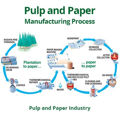 Proces Flow Diagram For Pulp And Paper Industry by Pulp And Paper Manufacturing Process In The Paper Industry