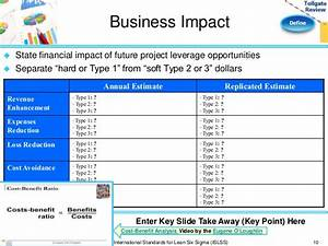 define phase lean six sigma tollgate template With business impact analysis template for banks