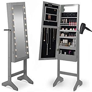 Amazoncom Beautify Mirrored Jewelry Armoire With Led