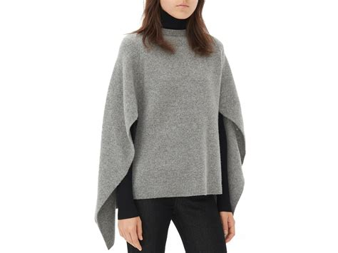 s cape sweater sandro cape style sweater in gray lyst