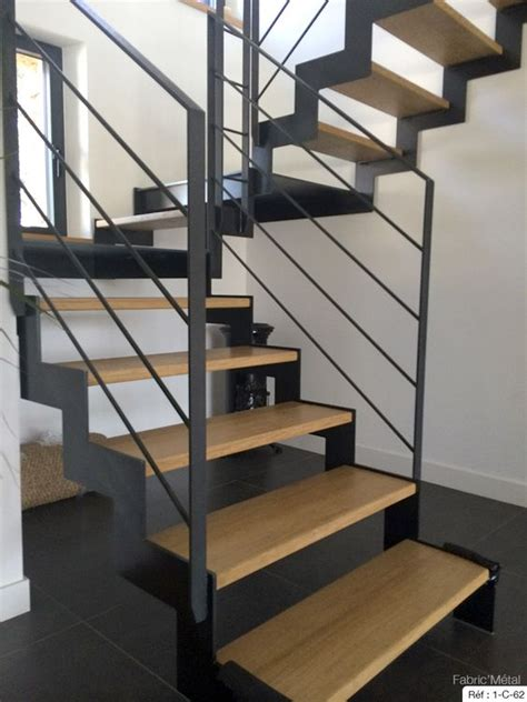 escalier mixte bois metal fabrication escalier metal bois escalier moderne en bretagne morbihan fabric metal