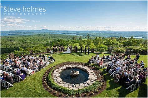 Beautiful Lake Winnipesaukee Outdoor Wedding
