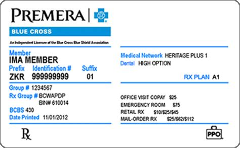 prime membership customer service phone number id cards member premera blue cross