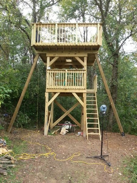 standing tree house page  woodworking talk