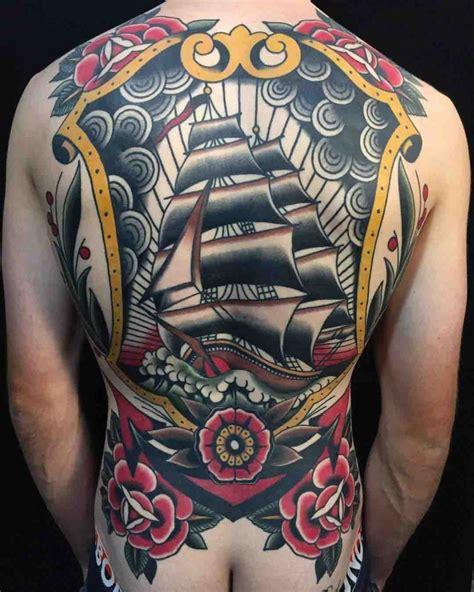 Full Back Nautical Tattoo Ship | Best Tattoo Ideas Gallery
