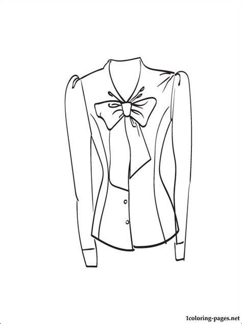 blouse coloring  printable page coloring pages