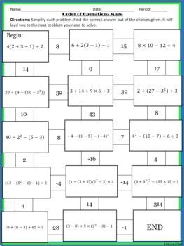 all worksheets 187 order of operations with grouping symbols