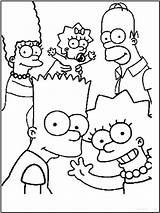 Coloring Pages Simpsons Cartoon Printable Cartoons sketch template