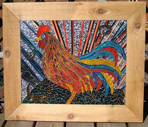 images  mosaic chickens  pinterest