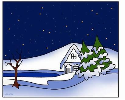 Winter Clipart Scene Scenes Clip Transparent Snowman