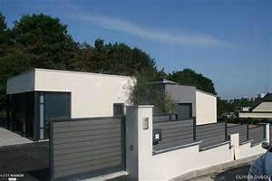 Cloture Maison Moderne : am nagement complet autour d une maison d architecte cour ~ Melissatoandfro.com Idées de Décoration