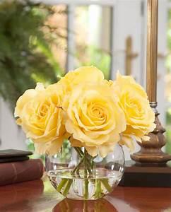 Shop Lifelike Rose Nosegay Silk Flower Arrangement At Petals