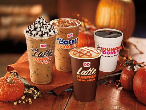 New Pumpkin CrÈme Brulee Coffee And Lattes Join Dunkin Juan Valdez Coffee Vanicanela Nescafe Transportation Farmhouse Table Distressed Is Ready In Spanish Franchise Types Of Wood World Market Very Milky