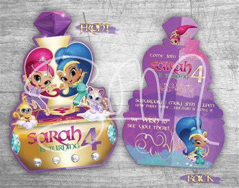 NEW Shimmer & Shine Birthday Invitations Digital or