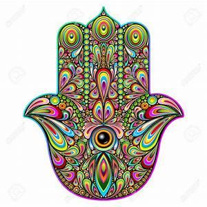 Hamsa Hand Psychedelic Art Royalty Free Cliparts, Vectors ...