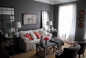My living room the big reveal huge giveaway the for Gray colors for living rooms