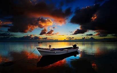 Wallpapers Ship Boat Sunset Desktop Resolution Achtergronden