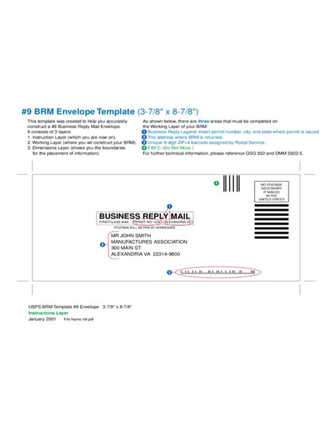 mail envelope template business reply mail envelope free