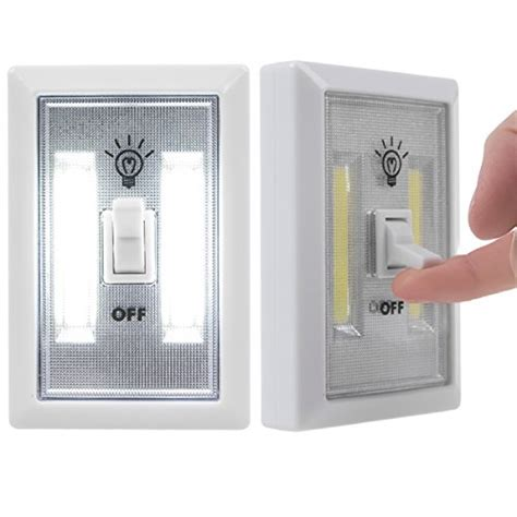 cob 2 pack led wall lighted switch wireless closet
