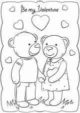 Valentine Coloring Valentines Printable Cards Card Classroom Template Druckbare Malvorlagen Bears Luxus Valentinstag Valentinstagskarten Happy Bear Crafts Kinder sketch template