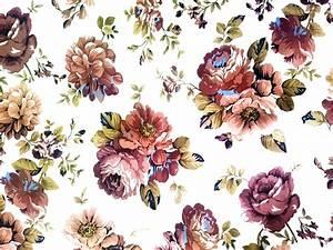 Clipart - Vintage Floral Texture Background