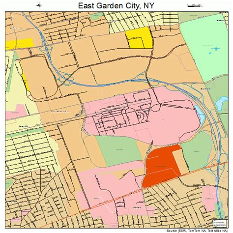 Garden City Usps by East Garden City New York Map 3622065