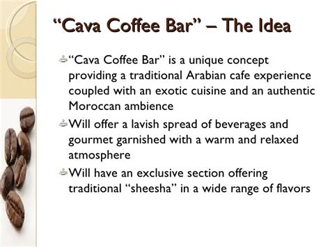 arabian cuisine marketing plan coffee bar