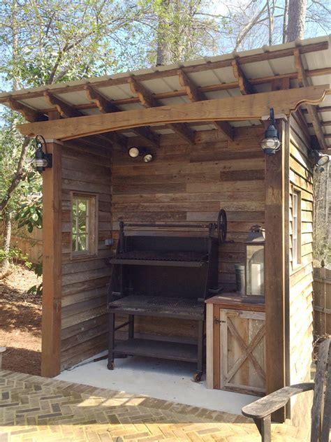 barbecue shed designed  built  atlanta decking bbq