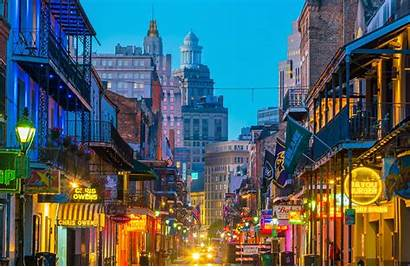 Orleans Pensacola Downtown Night French Quarter Mardi