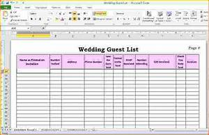 5 wedding guest list template excel teknoswitch With wedding invitation list maker