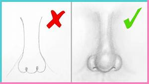 DOs & DON'Ts: How to Draw a Realistic Nose Easy Step by ...