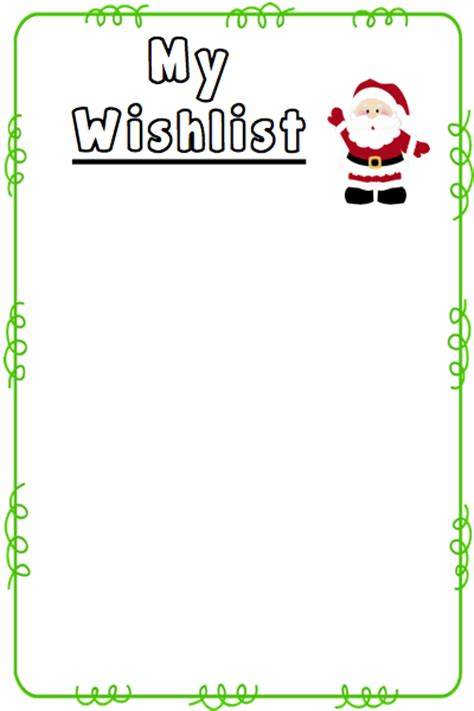 santa wish list template wishlist templates freebie the