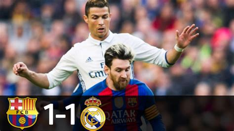 Barcelona vs Real Madrid 1-1 - All Goals & Extended ...