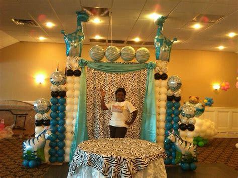 baby shower backdrop cake design arch  table  zebra