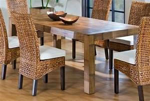 Table De Cuisine En Bois : notre inspiration du jour est la chaise en osier ~ Teatrodelosmanantiales.com Idées de Décoration