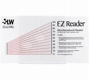 Ez Reader Microhematocrit Card  U2013 Lw Scientific