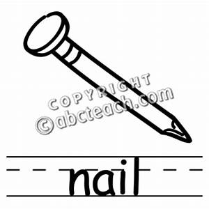 Nail Black And White Clipart