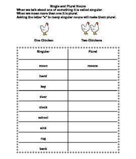 forming plural nouns a series of worksheets for grades 2 3