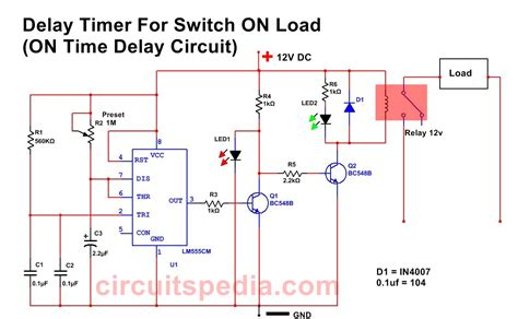 Switch Delay Timer Circuit Circuitspedia