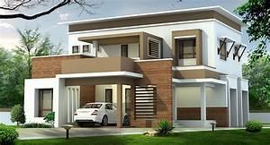 2050, Square, Feet, Double, Floor, Contemporary, Home, Design