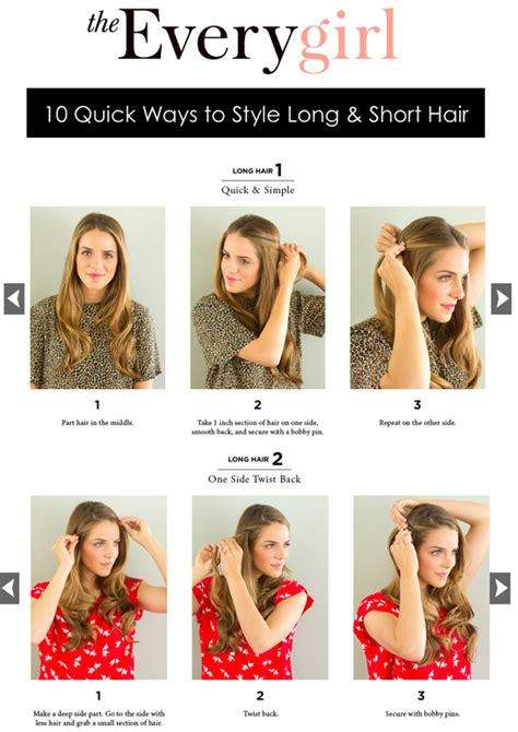 ways to style your hair 10 ways to style hair gal meets glam 6773