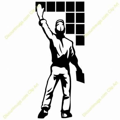 Tile Clipart Installer Install Tiling Installation Tiles