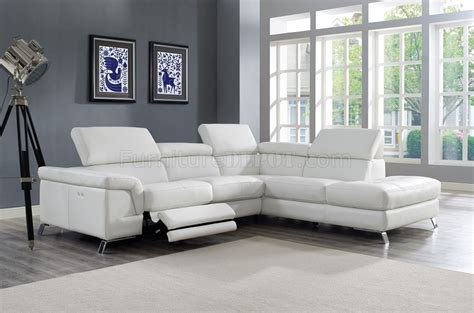 Motion Sofas And Sectionals by Power Motion Sectional Sofa White Leather By