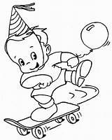 Skateboard Coloring Pages Printable Skating Balloon Boy Brought Play Balloons Worksheets sketch template