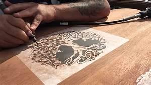 Dremel Wood Carving Project Headboard Part 1