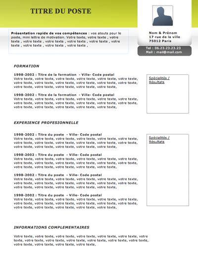 Cv Modèles Gratuits Originaux by Resume Format Mod 232 Les De Cv Originaux