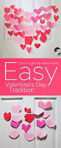 Easy Valentine's Day tradition with door hearts every day!
