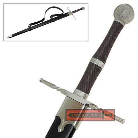 witcher  steel sword replica geralt rivia medieval